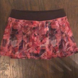 Lululemon pink/black athletica skirt